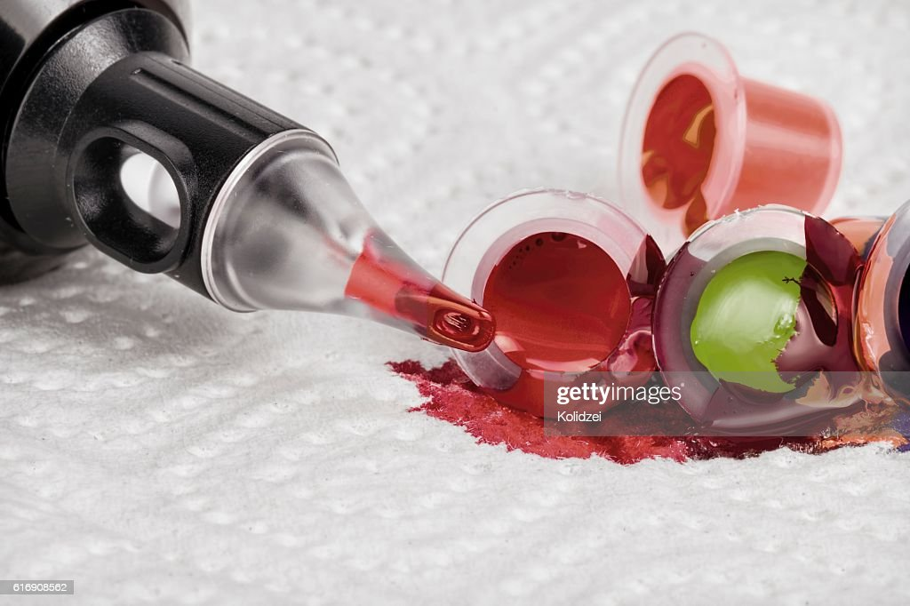 Tattoo machine with needle and ink. : Stock Photo