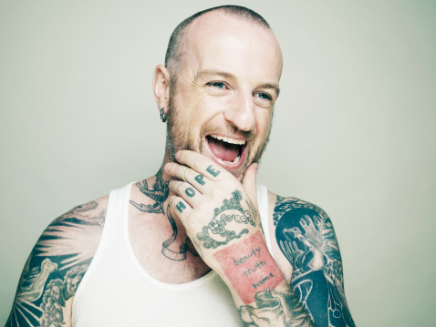 laughing man tattoo - photo #7