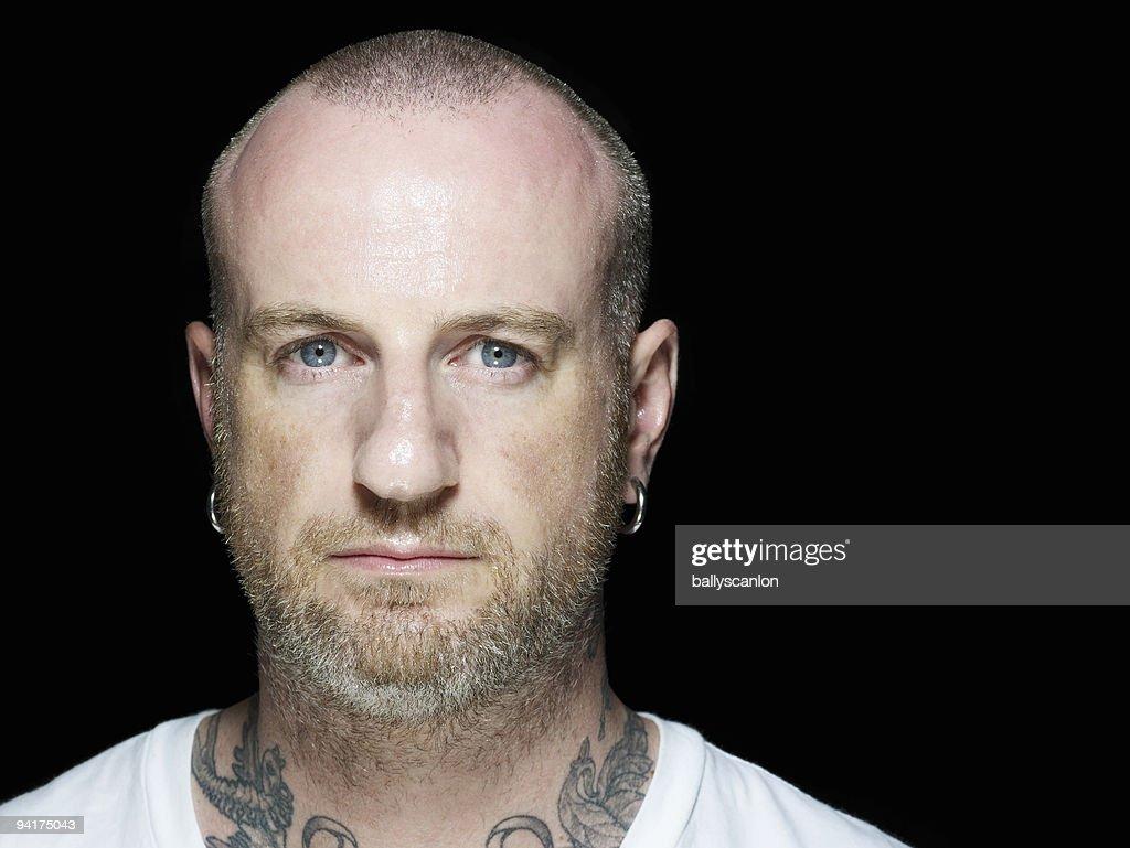 Tattooed man Portrait.