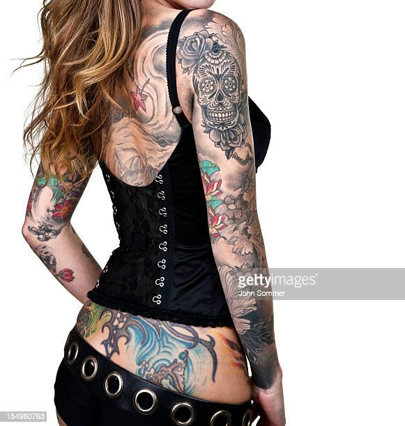 Tattooed Frau