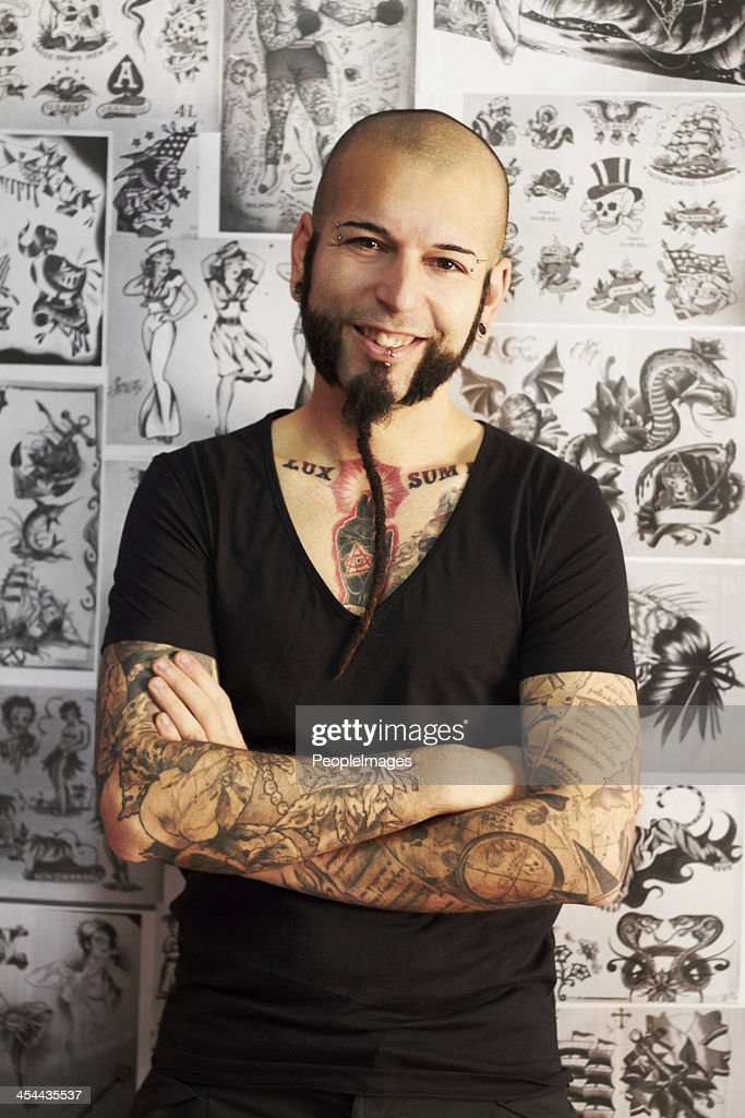 Tattoos are my passion : Stock Photo