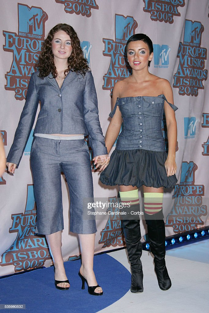 Tatu singers Julia Volkova and Elena Katina arrive at the 12th annual MTV Europe Music Awards 2005 held at the Atlantic Pavilion in Lisbon.