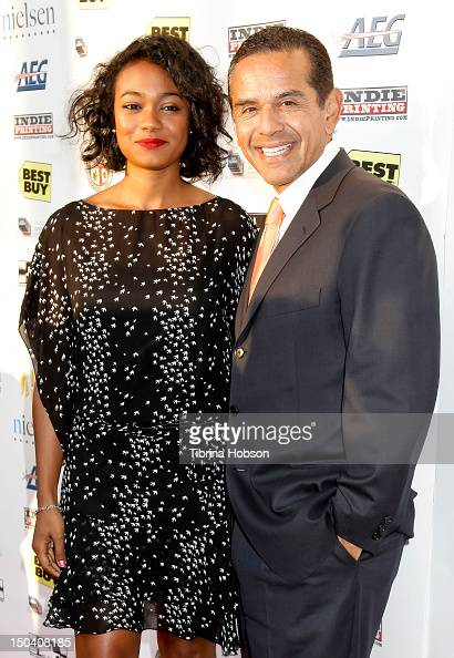 Tatyana Ali and Antonio Villaraigosa attend the 6th annual Boyle Heights Youth Center fundraiser at Boyle Heights Tech Youth Center on August 16 2012...