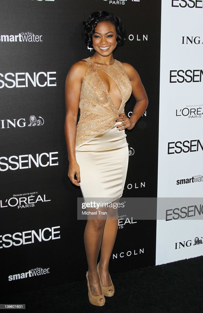 <a gi-track='captionPersonalityLinkClicked' href=/galleries/search?phrase=Tatyana+Ali&family=editorial&specificpeople=847071 ng-click='$event.stopPropagation()'>Tatyana Ali</a> arrives at the 5th Annual ESSENCE Black Women In Hollywood luncheon held at Beverly Hills Hotel on February 23, 2012 in Beverly Hills, California.