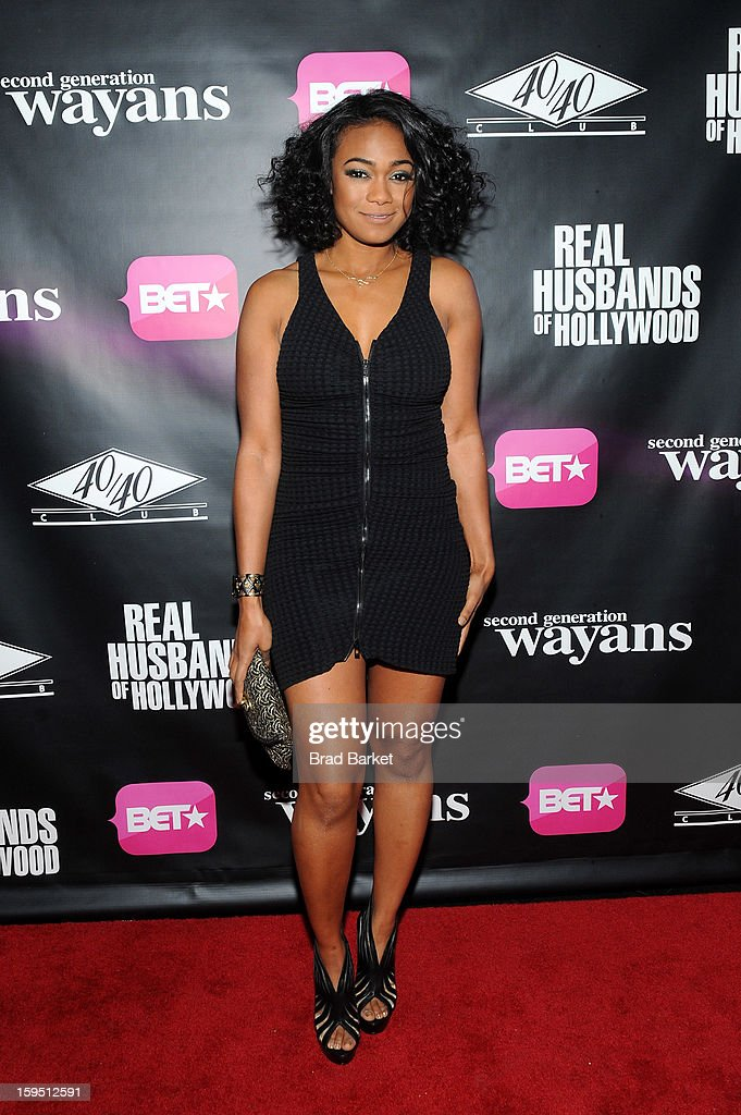 Tatyana Ali attends BET Networks New York Premiere Of 'Real Husbands of Hollywood' And 'Second Generation Wayans' - After Party at 40 / 40 Club on January 14, 2013 in New York City.