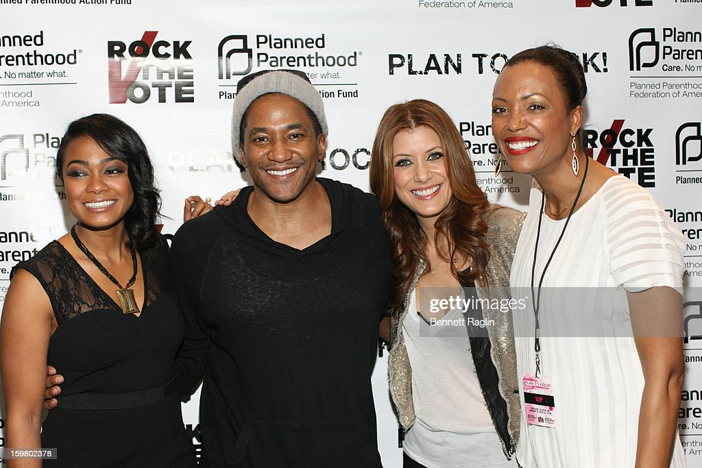 Tatyana Ali, Q-Tip, Kate Walsh, and Aisha Tyler attend Planned Parenthood & Rock The Vote 2013 Inauguration Party on January 20, 2013 in Washington, DC.