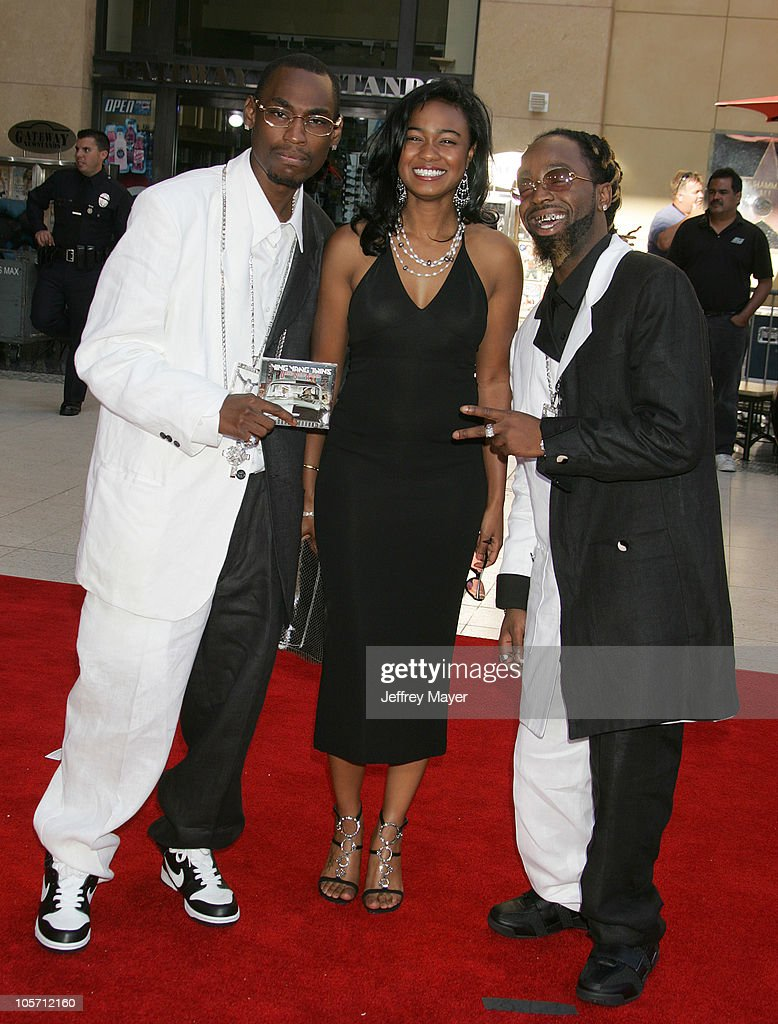 Tatyana Ali with Ying Yang Twins during 2005 BET Awards Arrivals at Kodak Theatre in Hollywood California United States