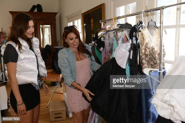 Tatyana Figueiredo with Lizzie Stanton Vest gets styled by Ali Levine in Dalia MacPhee gowns at TAP The Artists Project Style House on September 28...