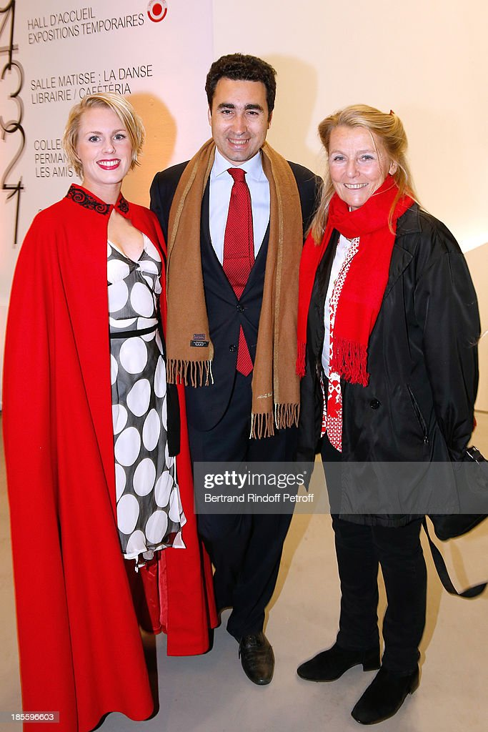 Tatyana Franck, her husband Alexis de Maud'huy and her mother Miss Dominique Franck-Rossignol attend the dinner of the friends of the 'Musee d'Art Moderne de la ville de Paris' on October 22, 2013 in Paris, France.