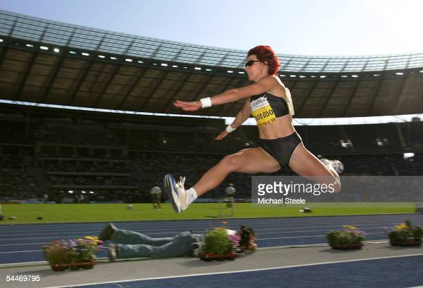 Tatyana Lebedeva of Russia in action in the triple jump during the ISTAF Golden League meeting on September 4 2005 at the Olympic Stadium in Berlin...