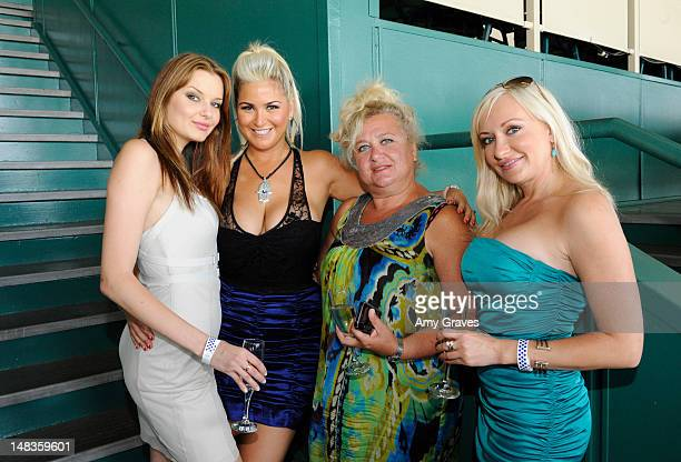 Tatyana Melnyk Josie Goldberg Alla Goldberg and Guest attend the debut of reality TV star and playboy model Josie Goldberg's personal race horse at...