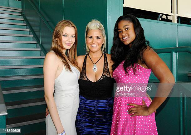 Tatyana Melnyk Josie Goldberg and Sherise Ford attend the debut of reality TV star and playboy model Josie Goldberg's personal race horse at...