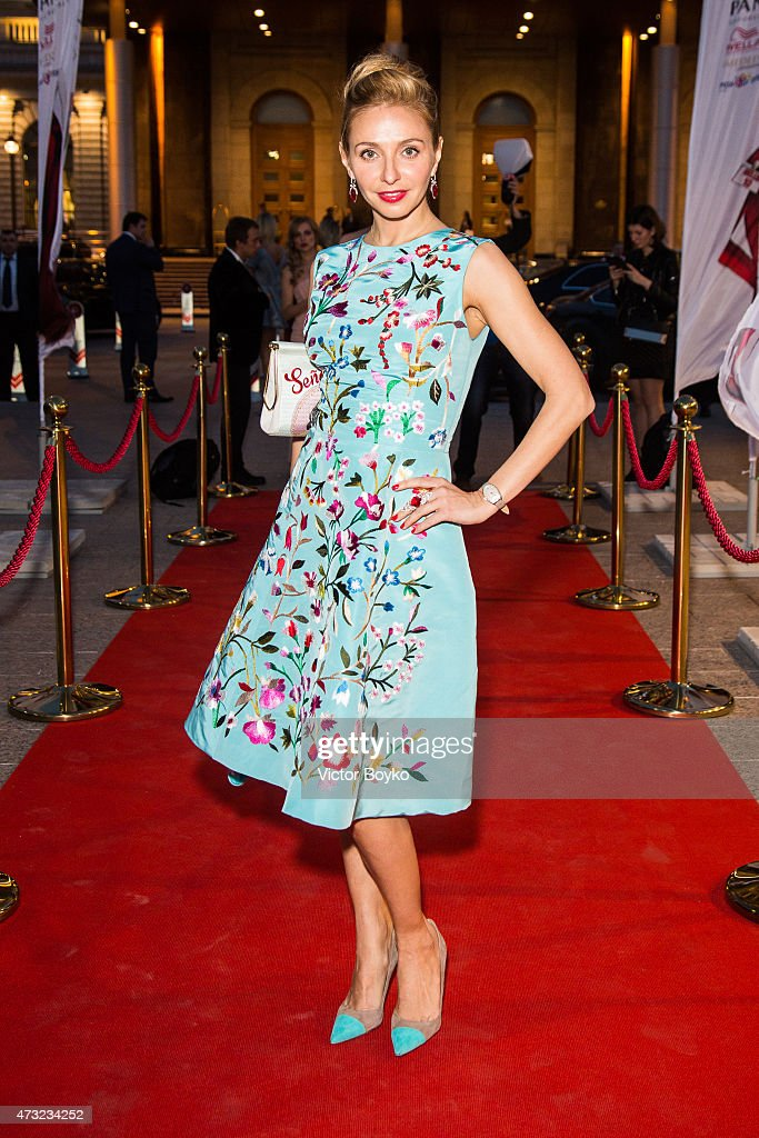 Tatyana Navka attends the Hello The Most Stylish Ceremony Moscow on May 13, 2015 in Moscow, Russia.