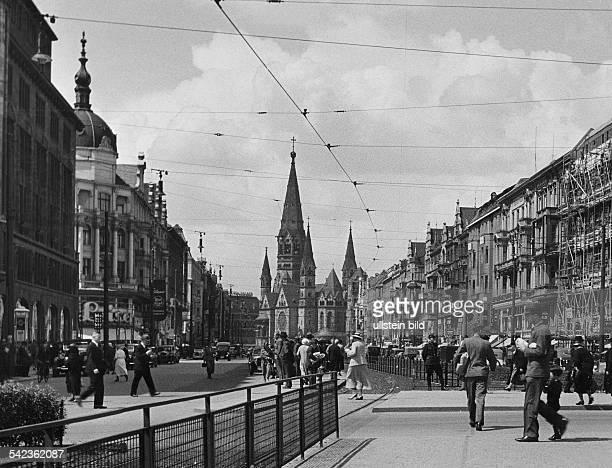 Tauentzien und KaiserWilhelmGedächtniskirchevermutlich 1940er JahreFoto Fritz Eschen