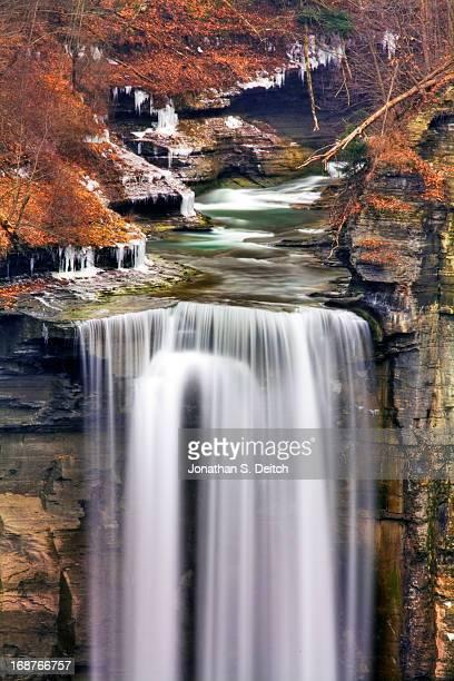HDR Taughannock Falls, Winter 2012