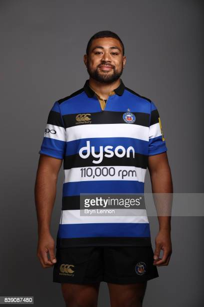 Taulupe Faletau of Bath poses during a photocall on August 22 2017 in Bath England