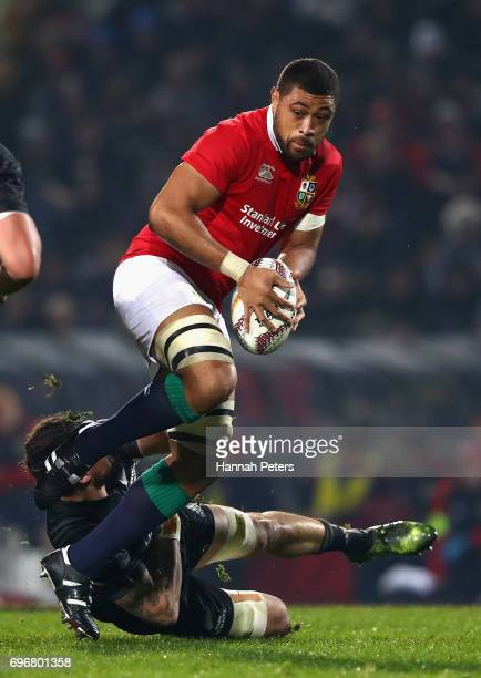 Taulupe Faletau of the Lions in action during the 2017 British Irish Lions tour match between the Maori All Blacks and the British Irish Lions at the...