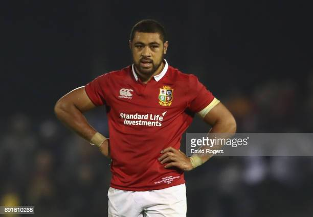 Taulupe Faletau of the Lions looks on during the match between the New Zealand Provincial Barbarians and the British Irish Lions at Toll Stadium on...
