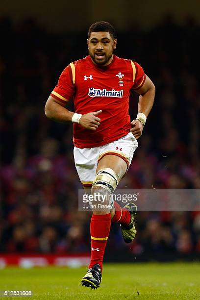 Taulupe Faletau of Wales in action during the RBS Six Nations match between Wales and France at the Principality Stadium on February 26 2016 in...