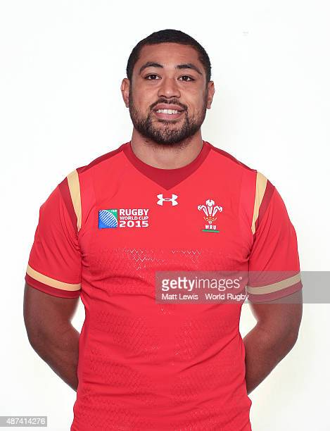 Taulupe Faletau of Wales poses for a portrait during the Wales Rugby World Cup 2015 squad photo call on September 9 2015 in Cardiff Wales
