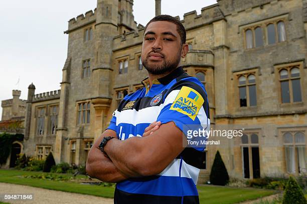 Taulupe Faletau poses for a portrait during the Bath Rugby squad photo call for the 20162017 Aviva Premiership Rugby season on August 24 2016 in Bath...