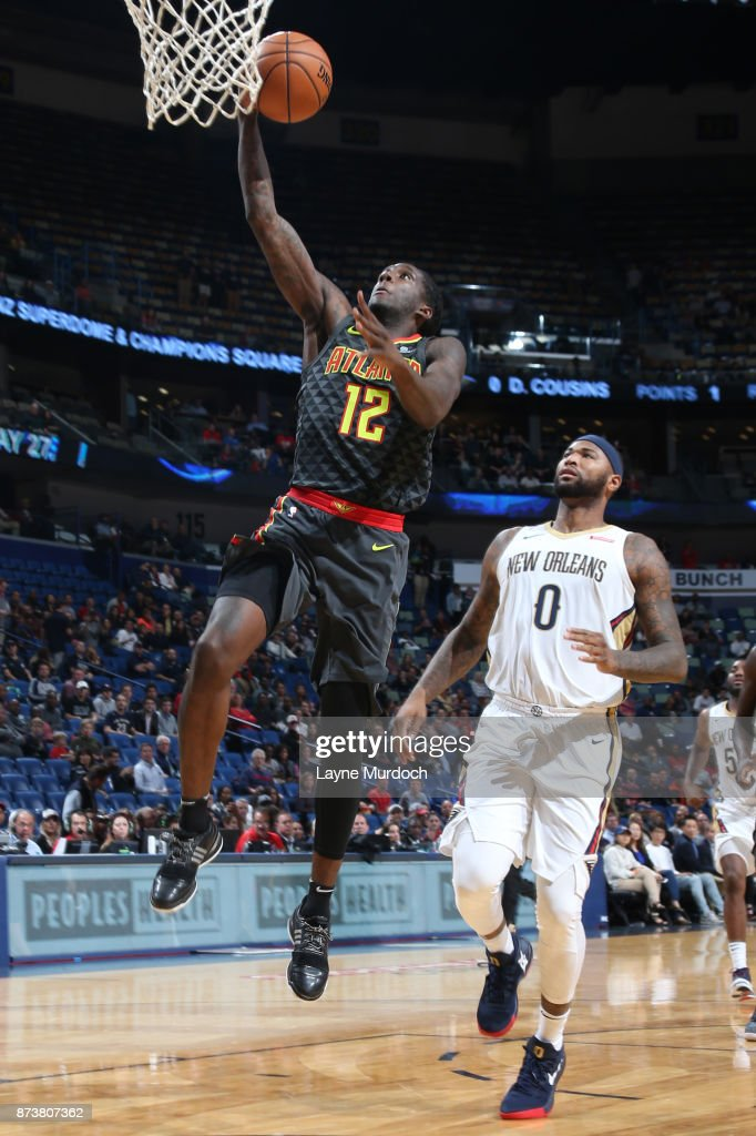 Taurean Prince #12 of the Atlanta Hawks shoots the ball during the game against the New Orleans Pelicans on November 13, 2017 at Smoothie King Center in New Orleans, Louisiana.