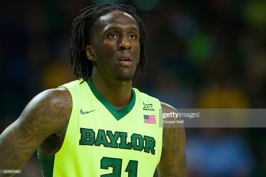 Taurean Prince of the Baylor Bears looks on against the West Virginia Mountaineers on March 5 2016 at the Ferrell Center in Waco Texas