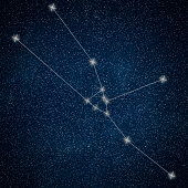 Taurus Constellation. Zodiac Sign Taurus Constellation lines  Galaxy background Zodiac Sign