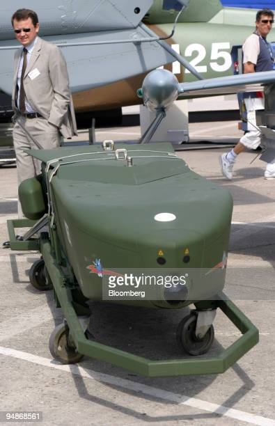 Taurus missile is pictured at the Paris Air Show in Le Bourget France Thursday June 16 2005