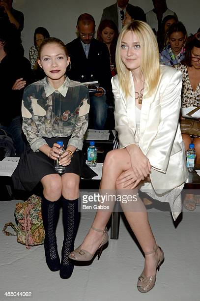 Tavi Gevinson and Dakota Fanning attend the Rodarte fashion show during MercedesBenz Fashion Week Spring 2015 on September 9 2014 in New York City