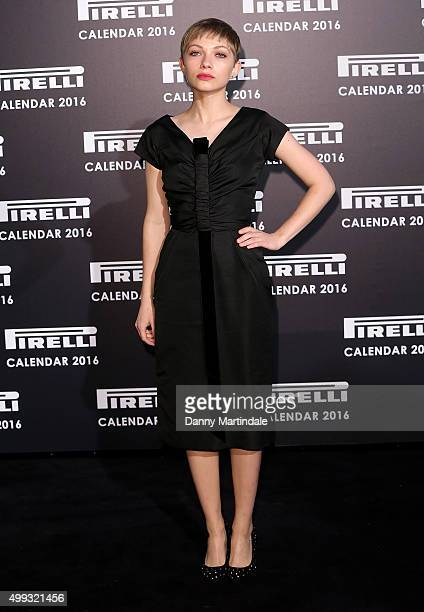 Tavi Gevinson attends a gala evening to celebrate the Pirelli calendar 2016 by Annie Leibovitz at The Roundhouse on November 30 2015 in London England