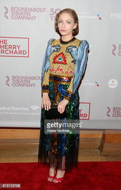 Tavi Gevinson attends the Broadway Opening Night performance press reception for 'The Cherry Orchard' at the American Airlines Theatre on October 16...