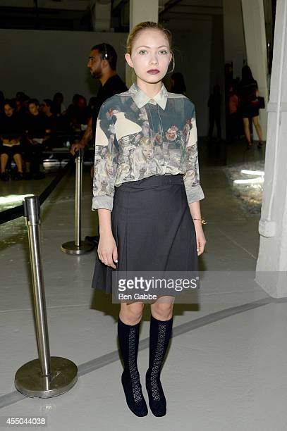 Tavi Gevinson attends the Rodarte fashion show during MercedesBenz Fashion Week Spring 2015 on September 9 2014 in New York City