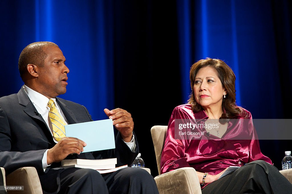 Tavis Smiley and Hilda Solis discuss poverty at the 'Made Visible Women Children Poverty in America' panel discussion at the NYU Skirball Center on...