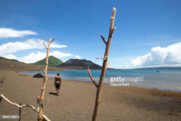 Tavurvur Volcano in Rabaul, Papua New Guinea