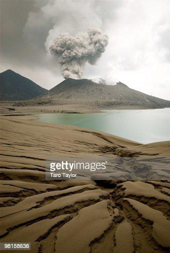 Tavurvur Volcano : Stock Photo
