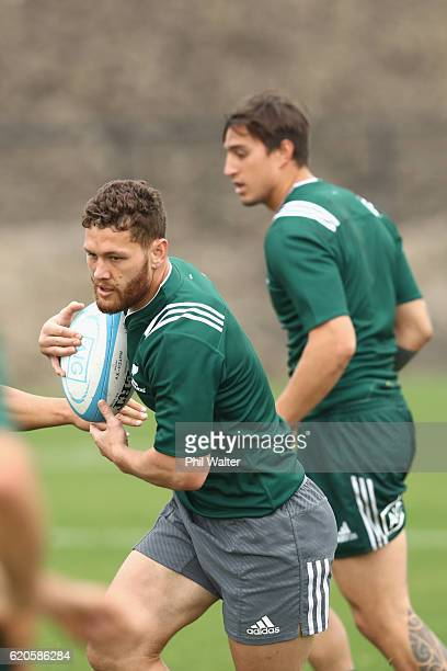 Tawera KerrBarlow of the New Zealand Maori All Blacks trains at Toyota Park on November 2 2016 in Bridgeview Illinois