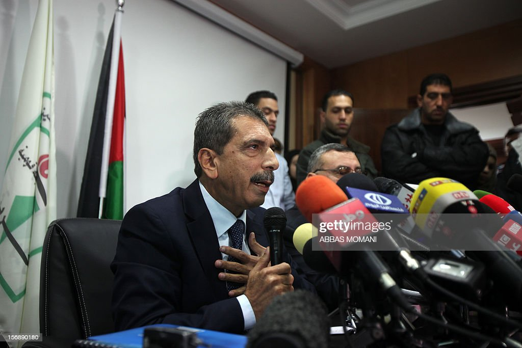 Tawfiq Tirawi, the head of the Palestinian inquiry team into the death of the late Palestinian leader Yasser Arafat, speaks to reporters during a press conference in the West Bank city of Ramallah, on November 24, 2012. The body of Arafat will be exhumed on November 27 to undergo poison tests, Tirawi said. Rumours and speculation have surrounded Arafat's death ever since a quick deterioration of his condition saw him pass away at the Percy military hospital in suburban Paris in November 2004 at the age of 75. AFP PHOTO / ABBAS MOMANI