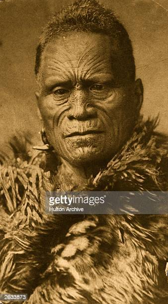Tawhiao first king of the Maoris showing ritual facial tattooing