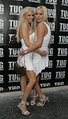 Tawny Roberts and Mary Carey during TUG Universal Present the Ultimate All White Listening Party at Ricardo Montalban Theatre in Hollywood California...