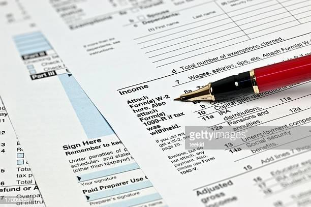Steuern 1040 x Formular