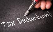 Tax Deduction writing