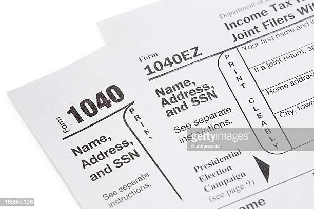 U.S. Tax Forms 1040 and 1040EZ