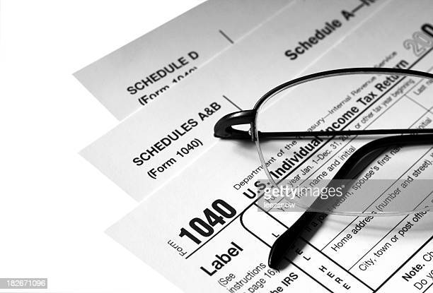 Tax Forms with Glasses