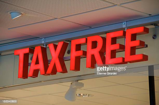Tax free sign at airport