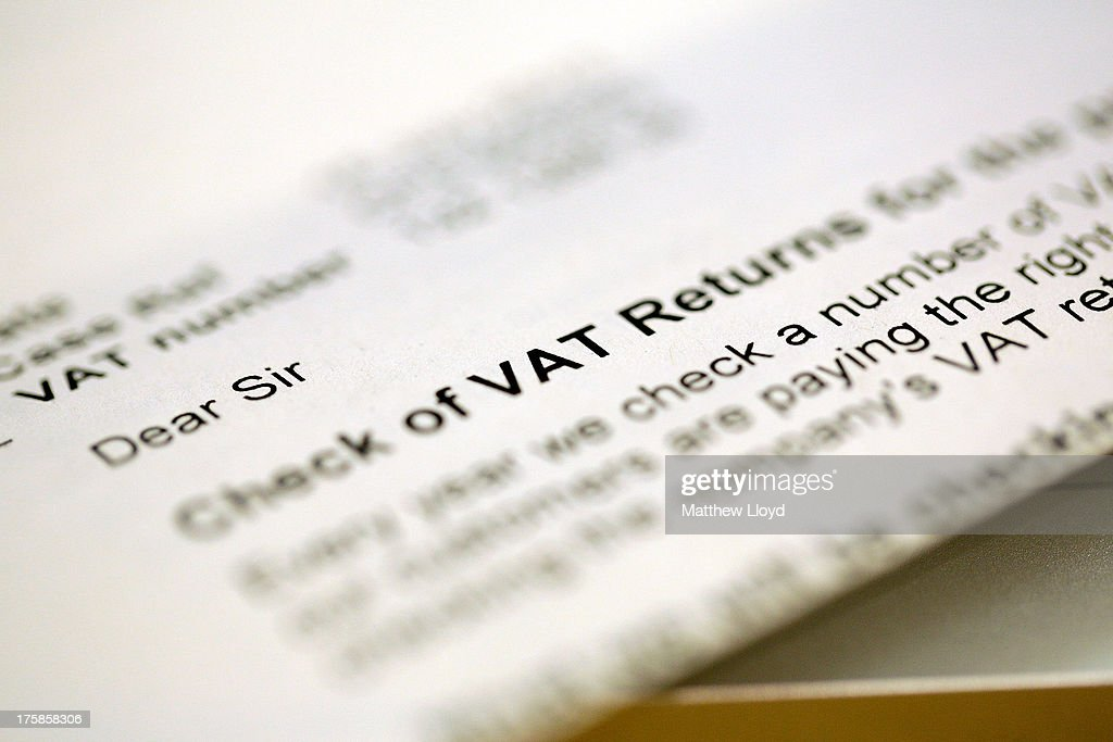A tax letter is pictured on August 9, 2013 in London, United Kingdom. A HMRC Flickr feed, showing the faces of their most wanted tax evaders, was being published. So far only one of the original 20 published individuals has been apprehended.