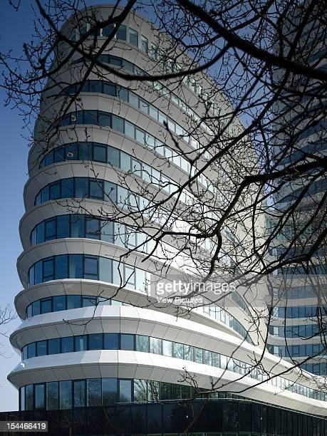 Tax Office And Education Executive Agency Unstudio Groningen Netherlands Partial Exterior View Of Finned Building Facade Un Studio Netherlands...