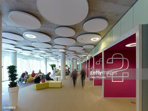 Tax Office And Education Executive Agency Unstudio Groningen Netherlands View Of Colourful Waiting Area Corridor Un Studio Netherlands Architect