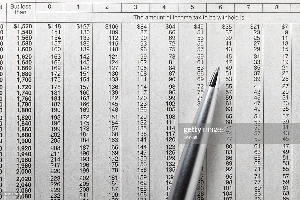 Free Tax Free Tax Table