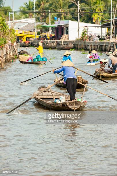 Taxi boat in Can Tho floating market